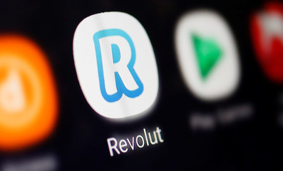 A Revolut logo is seen in this illustration