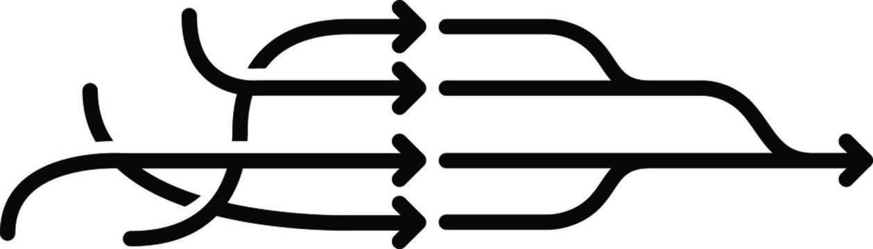 Simplify icon, vector