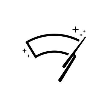 Car windscreen wiper icon