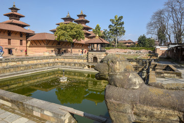 Temple of Durban square at Patan near Kathmandu in Nepal