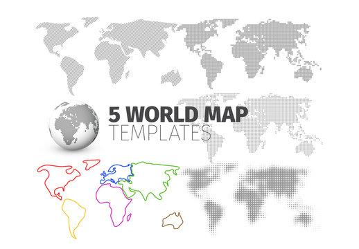 5 World Map Layouts