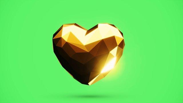 Golden Heart - Valentine's Day