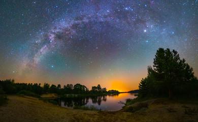 Starry night in summer Fotobehang