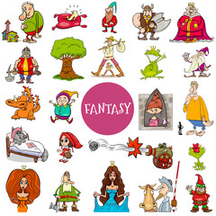 fantasy and fairy tale characters large set