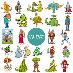 comic fantasy and fairy tale characters large set