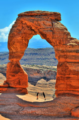 Delicate Arch in Arches National Park in Utah, United States