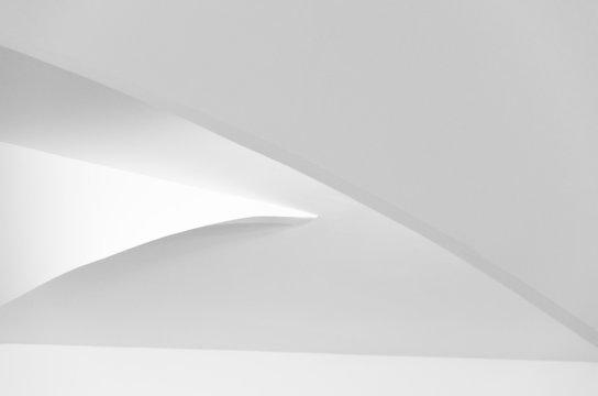 White architecture, minimalist and elegant design, achromatic abstraction