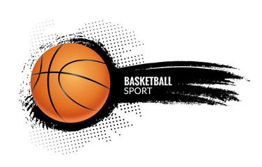 Basketball poster sport flyer. Vector basketball tournament league template background design
