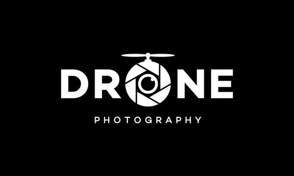 drone photography logo design template