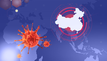 New coronavirus 2019-ncov. 3D illustration