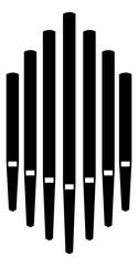 Pipe organ instrument silhouette