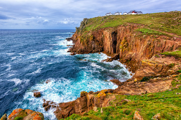 Land's End cape in Cornwall, England