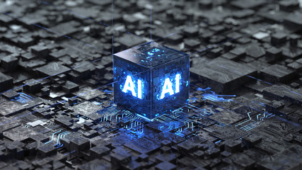 AI, Artificial Intelligence concept,3d rendering,conceptual image.