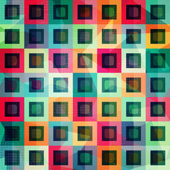 Fototapeta colored squares seamless pattern