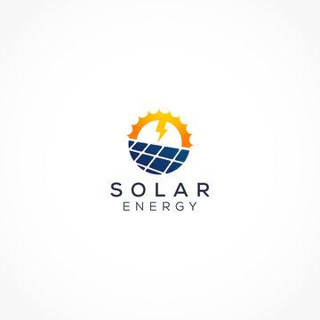 power of solar panel logo icon