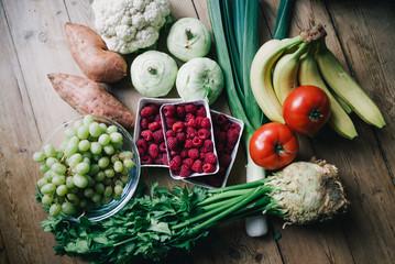 Gemüse Einkauf Papier Peint