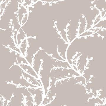 Tileable wallpaper  pattern - natural spring plant