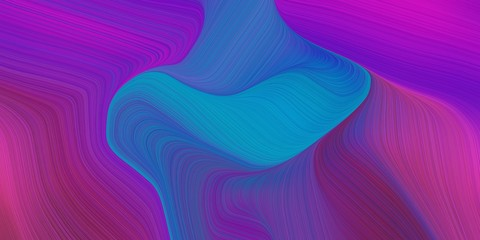 Poster Fractal waves artistic flowing art with abstract waves design with dark magenta, dark orchid and strong blue color