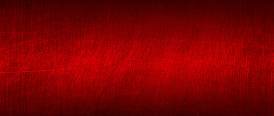 red and black scratch metal background and texture.