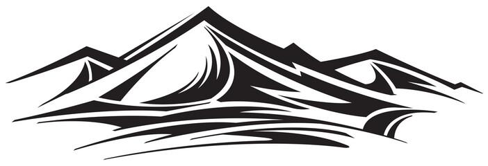 Mountain range icon Wall mural