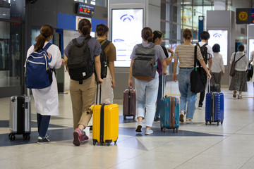 Foreign tourists coming to Japan, inbound image