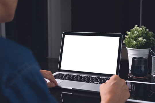 Mockup laptop computer