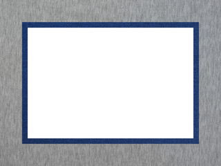 Gray-blue textured decorative rectangular frame with a free white field for creative work.