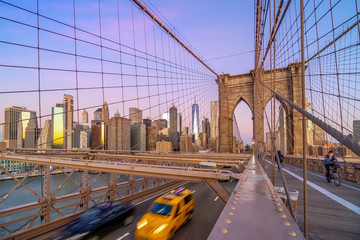 Fototapete - Brooklyn Bridge in New York City, USA