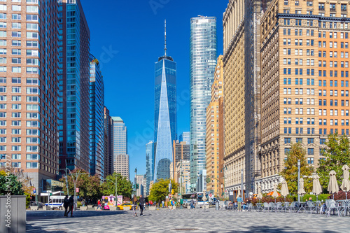Fotomurales Downtown Manhattan, NYC USA in summer