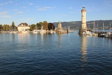 Hafeneinfahrt in Lindau (Bodensee)