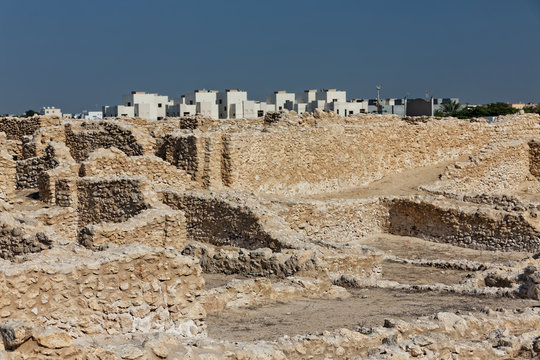 Dilmun era settlement, located on the outskirts of Saar., Kingdom of Bahrain.