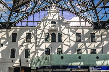 Lodz, Poland - August 5, 2017: Interior of main railway station in Lodz city - Lodz Fabryczna