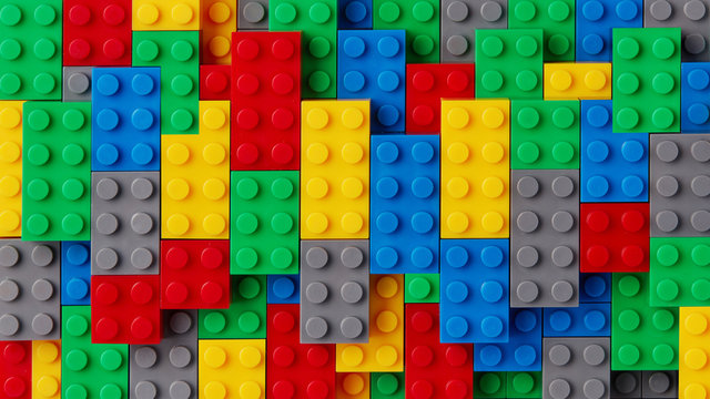 Multi-colored toy blocks background