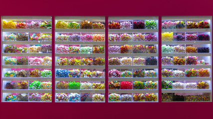 Huge pick and mix selection at candy shop