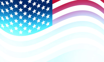 Abstract blurred usa flag background, vector art illustration.