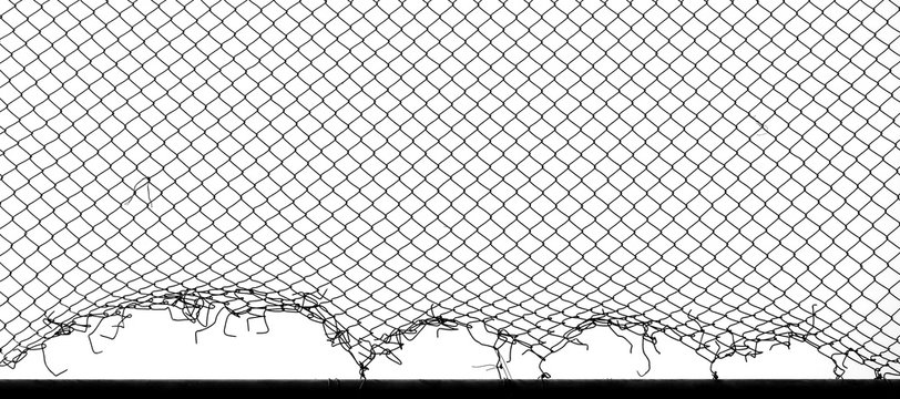damage wire mesh of fence