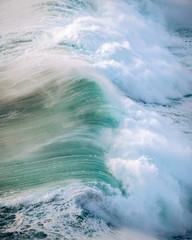 Wild Crashing Waves during Sunset