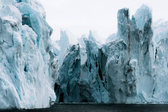 Moody Icebergs in western Greenland near Ilulissat