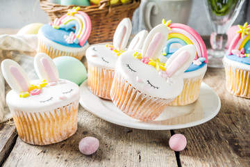 Cute homemade easter cupcakes