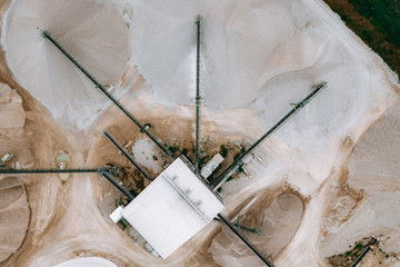 Aerial view of cement plant