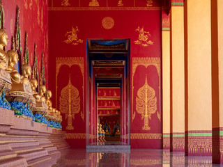 Fotobehang Bedehuis Wat Bang Thong is a temple complex in Ao Luek, Krabi, a few kilometers from Phang Nga with a new temple/pagoda called Wat Maha That Wachiramongkol under development.