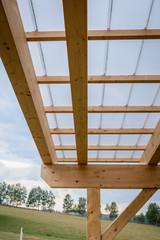 Terrasse Vordach Konstruktion