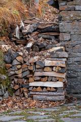 catasta di legna, camino