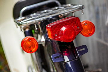 Tail light of a vintage motorcycle 2