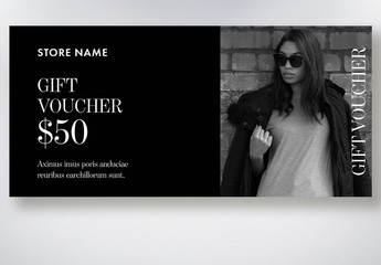 Grayscale Gift Voucher Layout