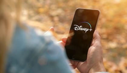 AACHEN, GERMANY - 07. February 2020 : Disney plus Video Streaming app on Apple iPhone.