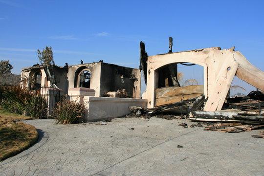 San Diego wildfires:  The Witch Fire devastation in the San Diego, California community of Rancho Bernardo