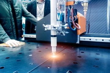 Plasma cutting of metal on a machine tool