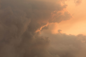Red clouds due to bush fire smoke at sunset in The Blue Mountains in Australia