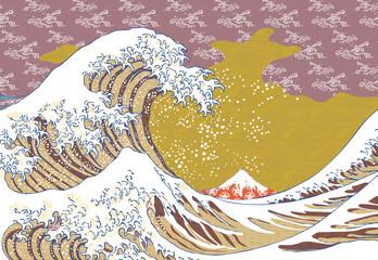 神奈川沖浪裏 カラフルバージョン その3